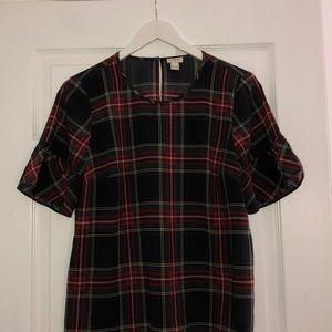 JCrew factory short sleeve blouse